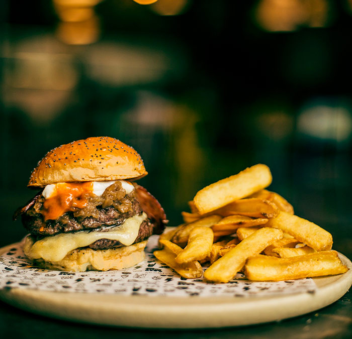 The Barrel Burger by The Fitz